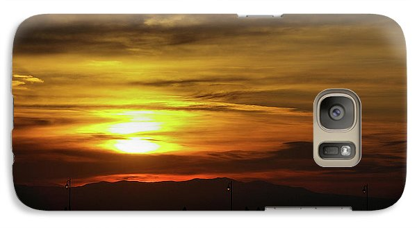Galaxy Case featuring the photograph Sunset At Thessaloniki by Tim Beach