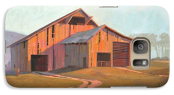 Galaxy Case featuring the painting Sunset Barn by Michael Humphries