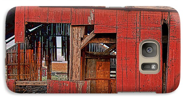 Galaxy Case featuring the photograph Sunset Barn by Steve Siri