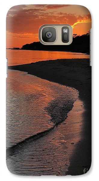 Galaxy Case featuring the photograph Sunset Bay by Lori Mellen-Pagliaro