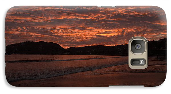Galaxy Case featuring the photograph Sunset Beach by Jim Walls PhotoArtist