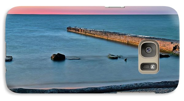 Galaxy Case featuring the photograph Sunset Beach On Lake Erie by Frozen in Time Fine Art Photography