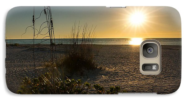 Galaxy Case featuring the photograph Sunset Beach by Rebecca Hiatt