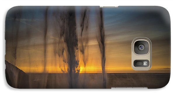 Galaxy Case featuring the photograph Sunset Behind The Waterfall by Chris McKenna