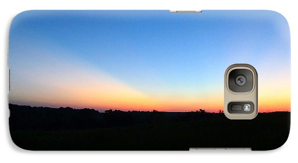 Galaxy Case featuring the digital art Sunset Blue by Jana Russon