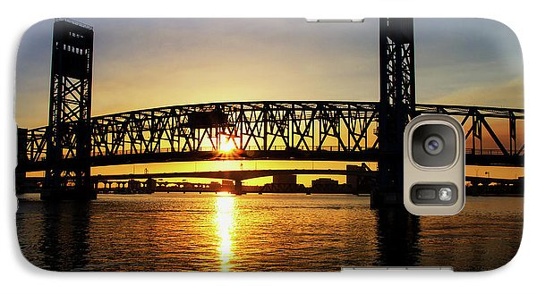 Galaxy Case featuring the photograph Sunset Bridge 1 by Arthur Dodd