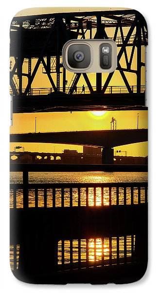 Galaxy Case featuring the photograph Sunset Bridge 2 by Arthur Dodd