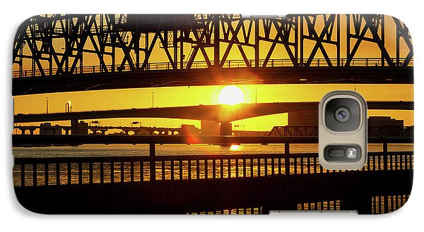 Galaxy Case featuring the photograph Sunset Bridge 3 by Arthur Dodd