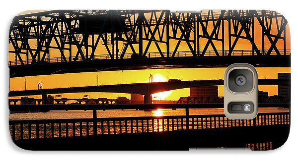 Galaxy Case featuring the photograph Sunset Bridge 4 by Arthur Dodd