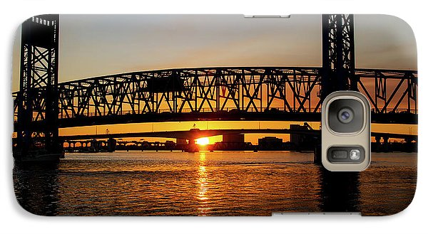 Galaxy Case featuring the photograph Sunset Bridge 5 by Arthur Dodd