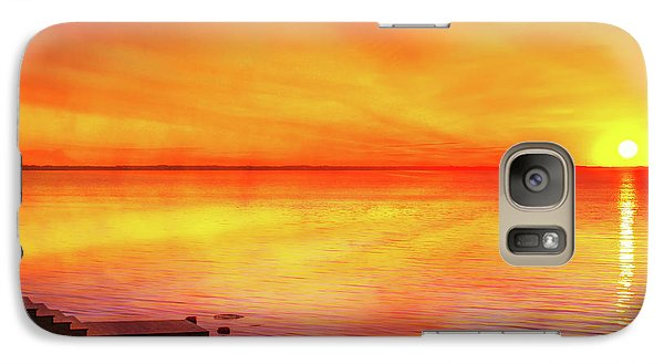 Galaxy Case featuring the digital art Sunset By The Shore by Randy Steele