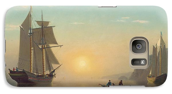 Boat Galaxy S7 Case - Sunset Calm In The Bay Of Fundy by William Bradford