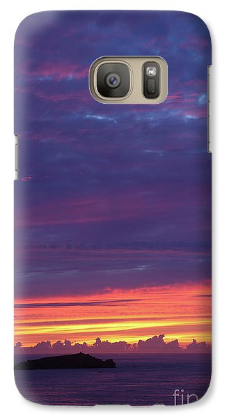 Galaxy Case featuring the photograph Sunset Clouds In Newquay, Uk by Nicholas Burningham