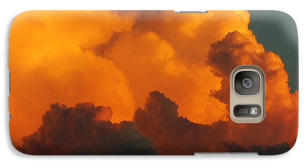 Galaxy Case featuring the digital art Sunset Clouds by Jana Russon