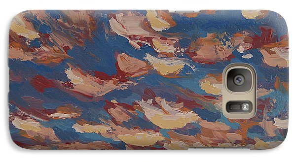 Galaxy Case featuring the painting Sunset Clouds Over Santa Fe by Erin Fickert-Rowland