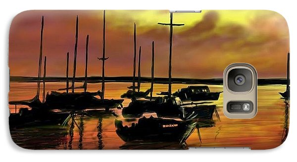 Galaxy Case featuring the digital art Sunset by Darren Cannell