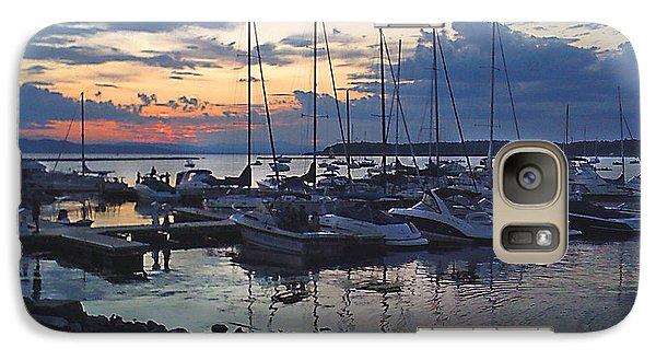 Galaxy Case featuring the photograph Sunset Dock by Felipe Adan Lerma