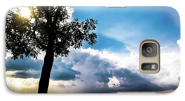 Galaxy Case featuring the photograph Sunset Explosion by Shelby Young
