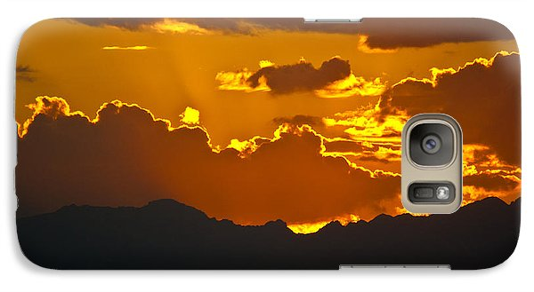 Galaxy Case featuring the photograph Sunset Fire by Colleen Coccia