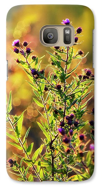 Galaxy Case featuring the photograph Sunset Flowers by Christina Rollo