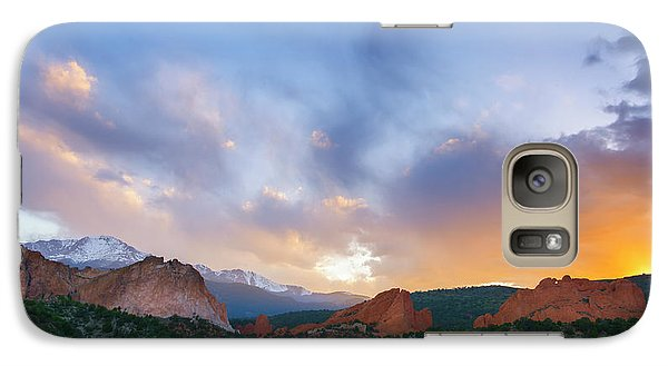 Galaxy Case featuring the photograph Sunset Forever by Tim Reaves