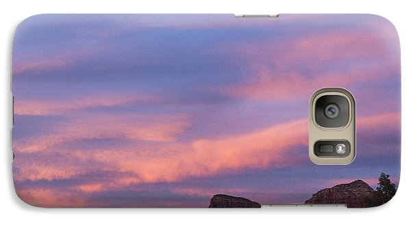 Galaxy Case featuring the photograph Sunset From Bell Rock Trail by Laura Pratt
