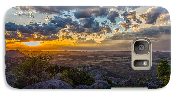 Galaxy Case featuring the photograph Sunset From The Heavens by James Menzies