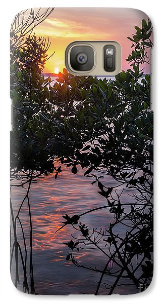 Galaxy Case featuring the photograph Sunset, Hutchinson Island, Florida  -29188-29191 by John Bald
