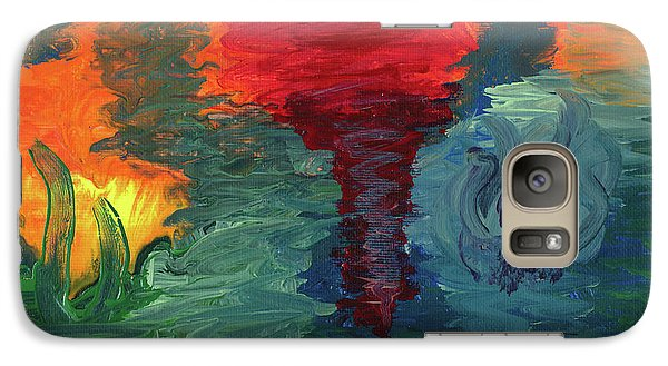 Galaxy Case featuring the painting Sunset I by Ania M Milo