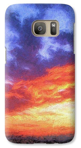 Sunset In Carolina Galaxy S7 Case