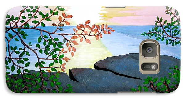 Galaxy Case featuring the painting Sunset In Jamaica by Stephanie Moore