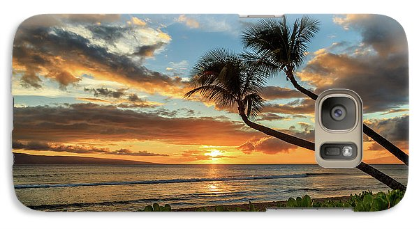 Galaxy Case featuring the photograph Sunset In Kaanapali by James Eddy