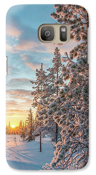 Galaxy Case featuring the photograph Sunset In Lapland by Delphimages Photo Creations