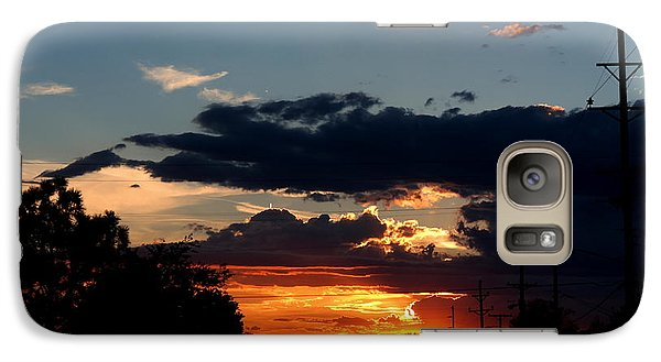 Galaxy Case featuring the photograph Sunset In Oil Santa Fe New Mexico by Diana Mary Sharpton