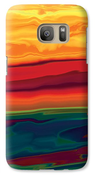 Galaxy Case featuring the digital art Sunset In Ottawa Valley 1 by Rabi Khan