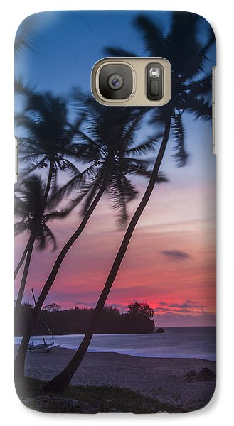 Sunset In Paradise Galaxy S7 Case by Alex Lapidus