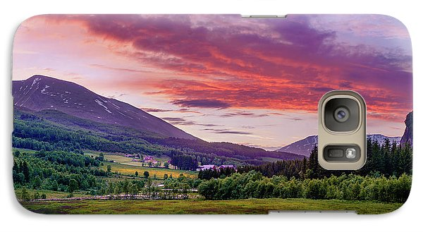 Galaxy Case featuring the photograph Sunset In The Meadow by Dmytro Korol