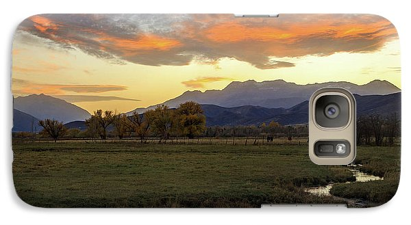 Galaxy Case featuring the photograph Sunset In The North Fields, Heber Valley, Utah. by Johnny Adolphson