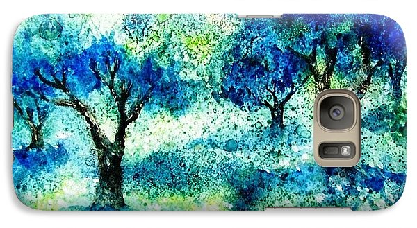 Galaxy Case featuring the painting Sunset In The Olive Grove  by Trudi Doyle