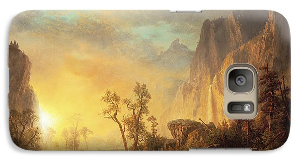 Landscape Galaxy S7 Case - Sunset In The Rockies by Albert Bierstadt