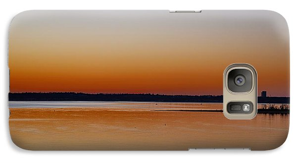 Galaxy Case featuring the photograph Sunset Lake Texhoma by Diana Mary Sharpton