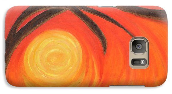 Galaxy Case featuring the painting Sunset by Lola Connelly
