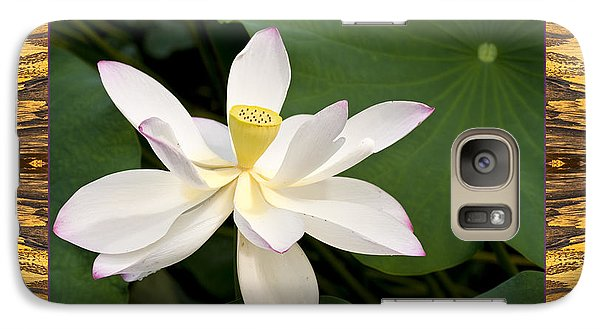 Galaxy Case featuring the photograph Sunset Lotus by Bell And Todd