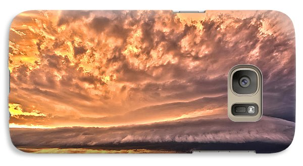 Galaxy Case featuring the photograph Sunset Mothership by James Menzies