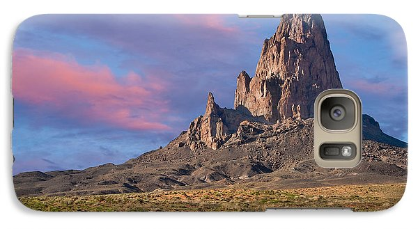 Galaxy Case featuring the photograph Sunset On Agathla Peak by Jeff Goulden