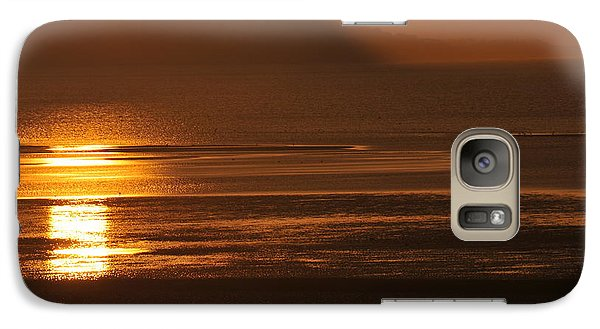 Galaxy Case featuring the photograph Sunset On Coast Of North Wales by Harry Robertson