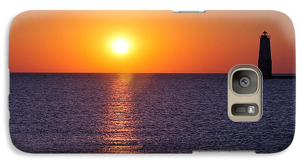 Galaxy Case featuring the photograph Sunset On Lake Michigan by Bruce Patrick Smith