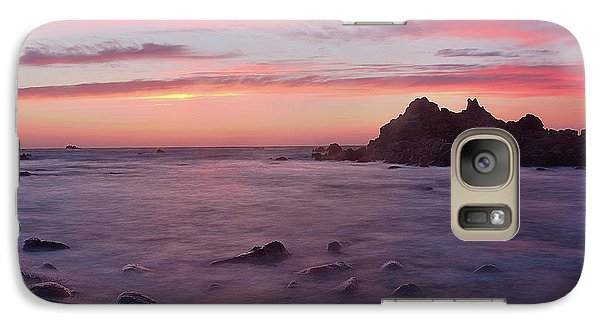 Galaxy Case featuring the photograph Sunset On Monterey Bay by Dana Sohr