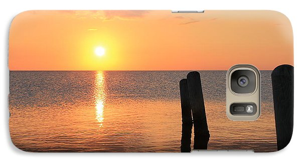 Galaxy Case featuring the photograph Sunset On Pimlico Sound by Laurinda Bowling