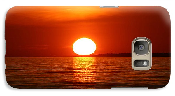 Galaxy Case featuring the photograph Sunset On Superior by Paula Brown